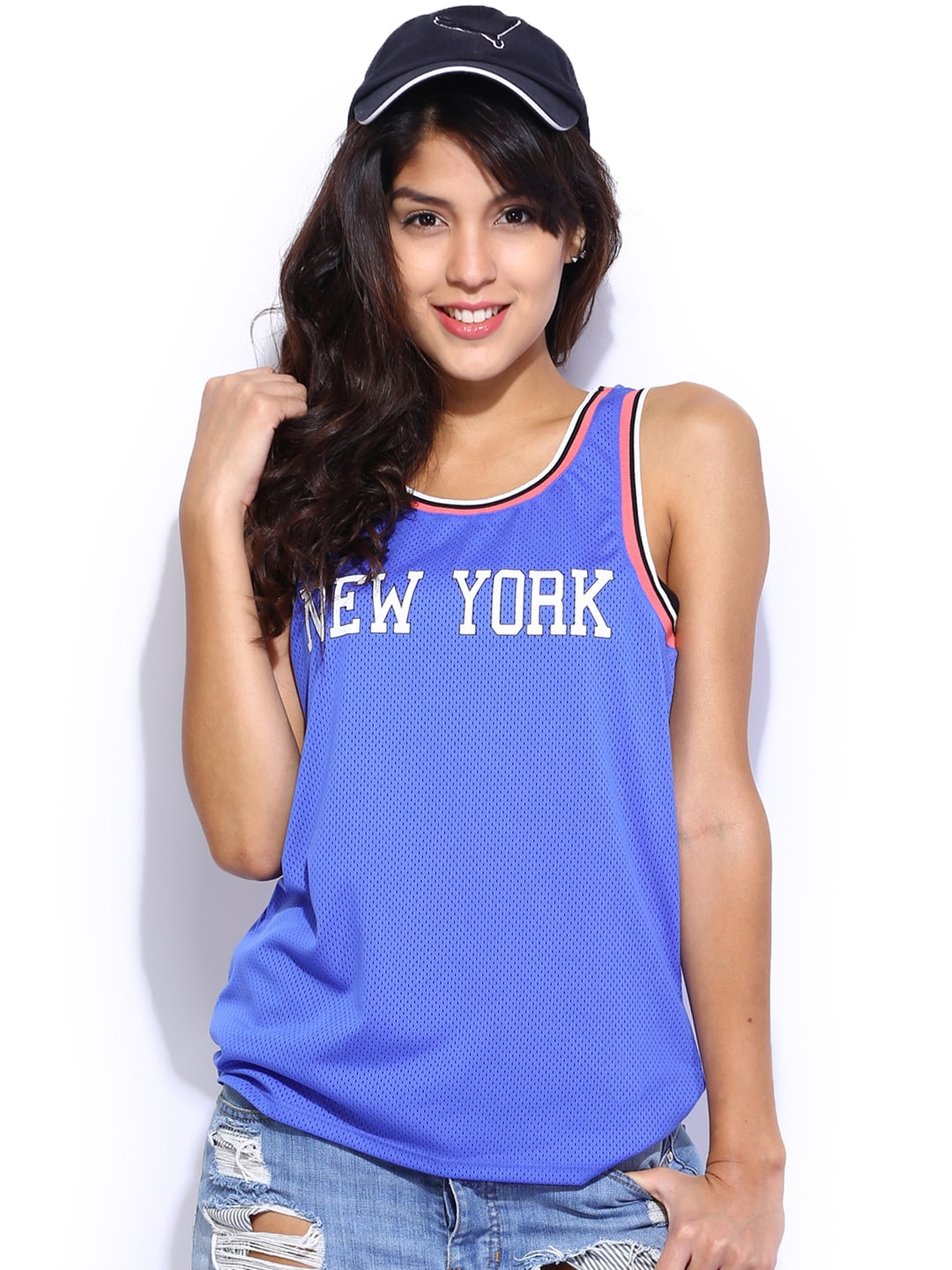 ONLY Women Blue Printed Top