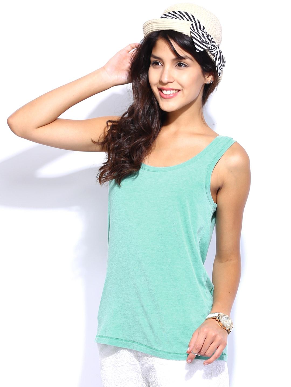 ONLY Women Green Top
