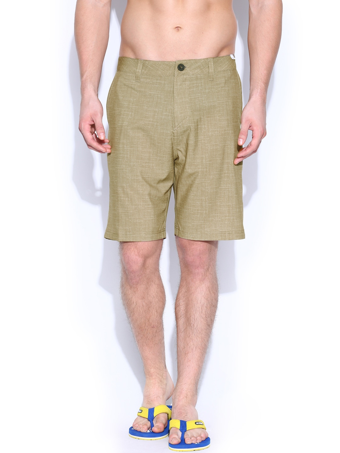 Quiksilver Men Brown Printed Surfing Shorts