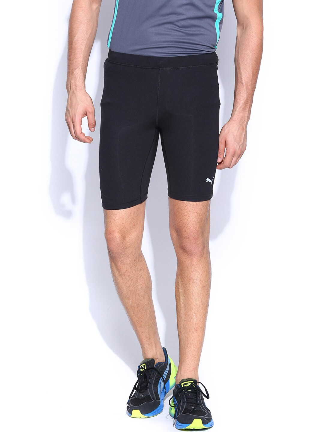 PUMA Men Black Running Shorts
