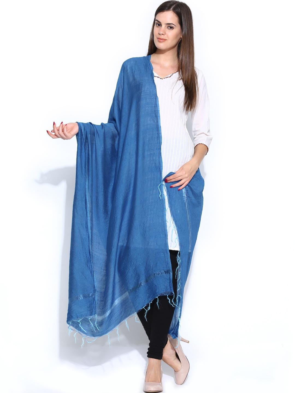 W Women Blue Dupatta