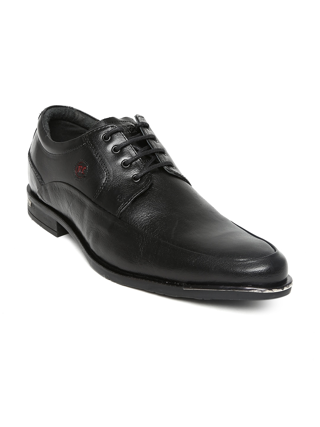 Red Chief Men Black Leather Formal Shoes