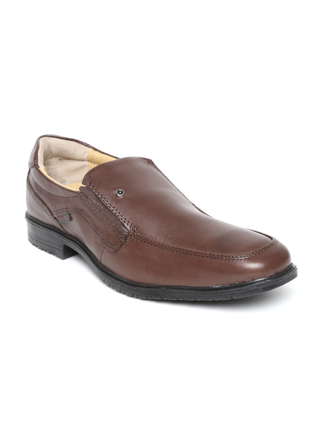 Red Chief Men Brown Leather Semiformal Shoes