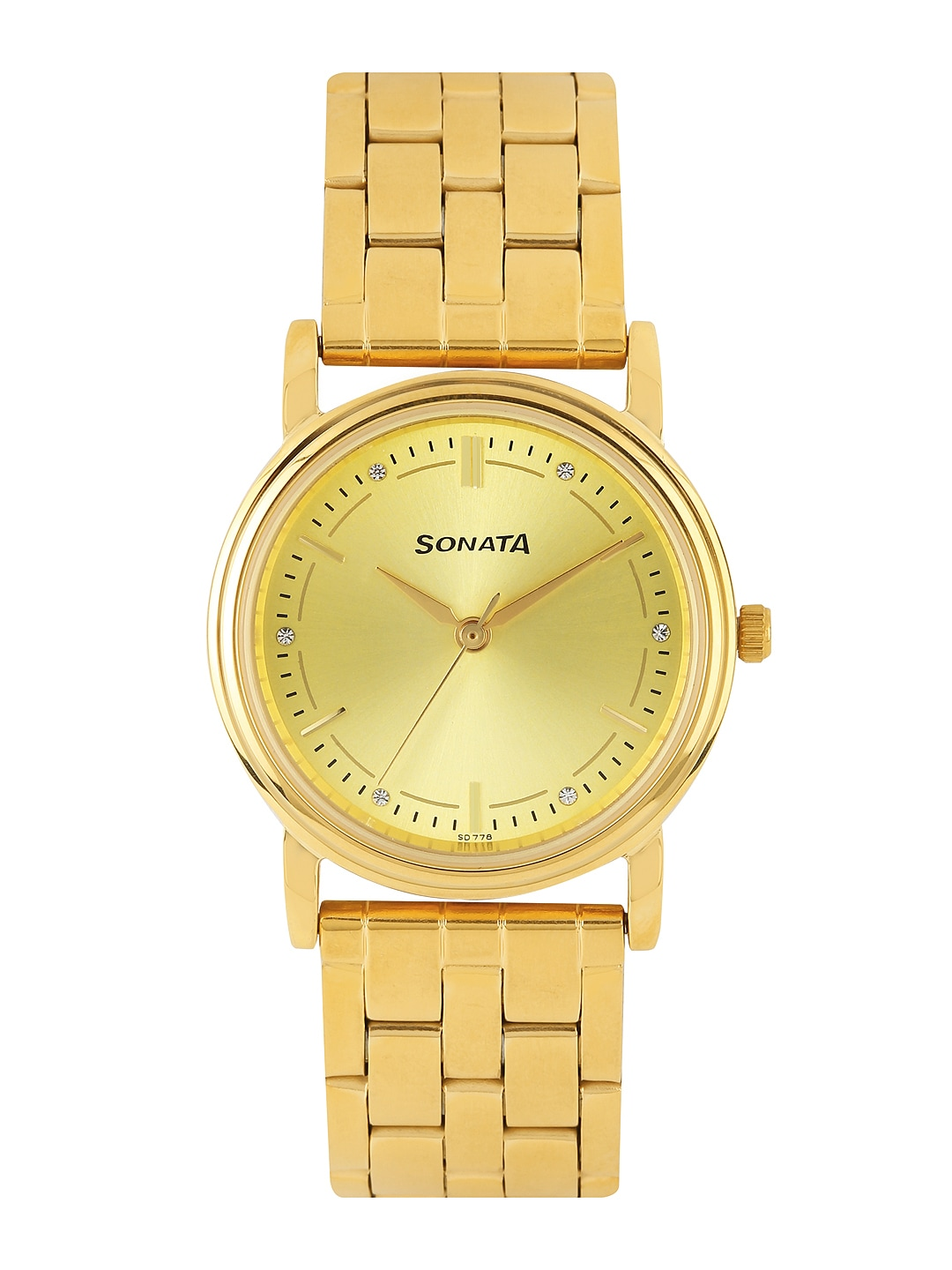 Sonata Men Gold-Toned Dial Watch ND1141YM22