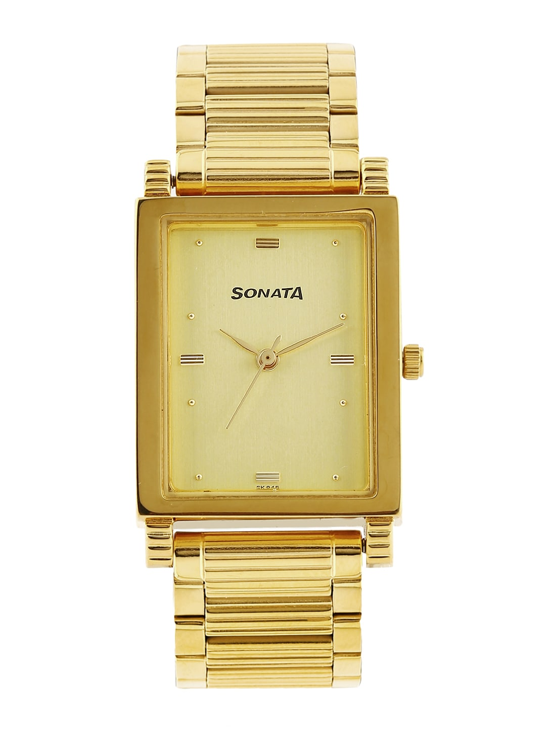 Sonata Men Gold-Toned Dial Watch NF7058YM02A