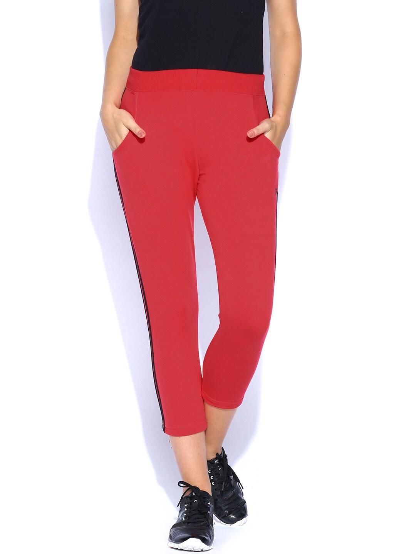 SDL by Sweet Dreams Women Red Capris