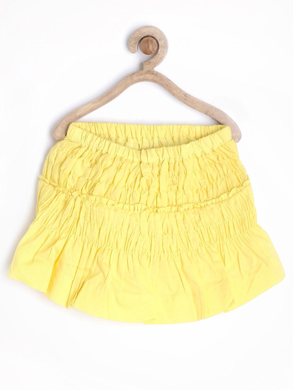 Gini and Jony Girls Yellow Flared Skirt