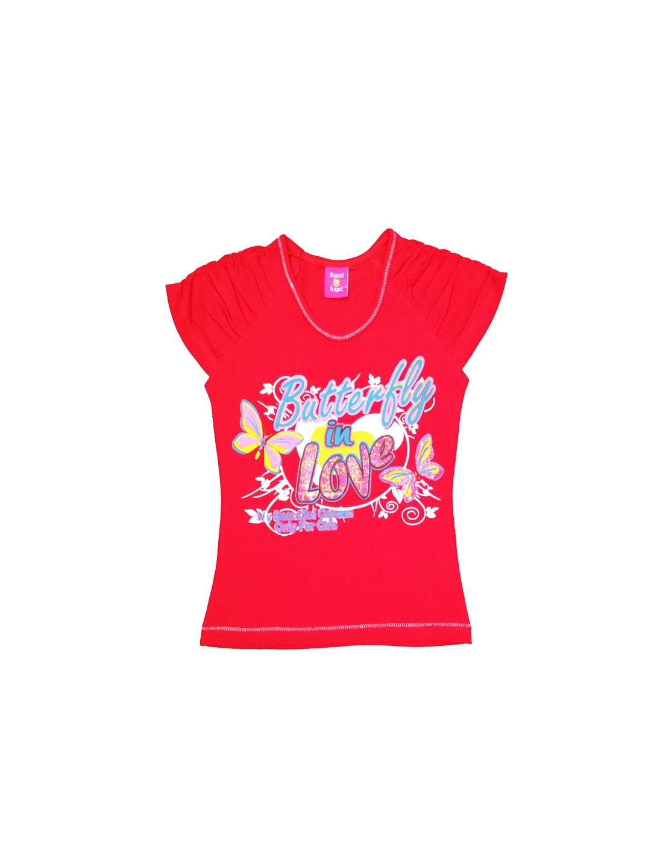 SWEET ANGEL Girls Red Printed Top