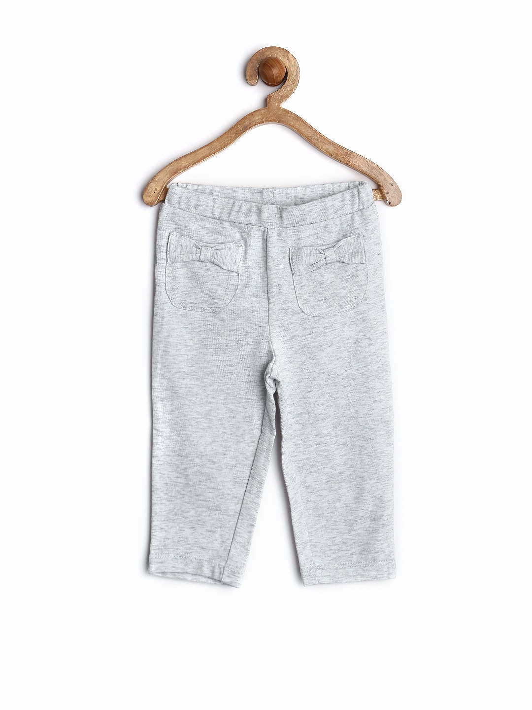 SELA Baby Girls Grey Melange Lounge Pants