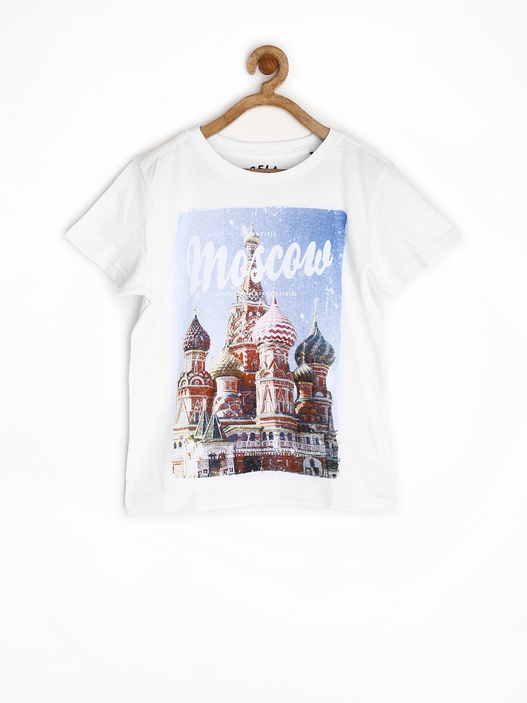 SELA Boys Off-White Printed T-shirt