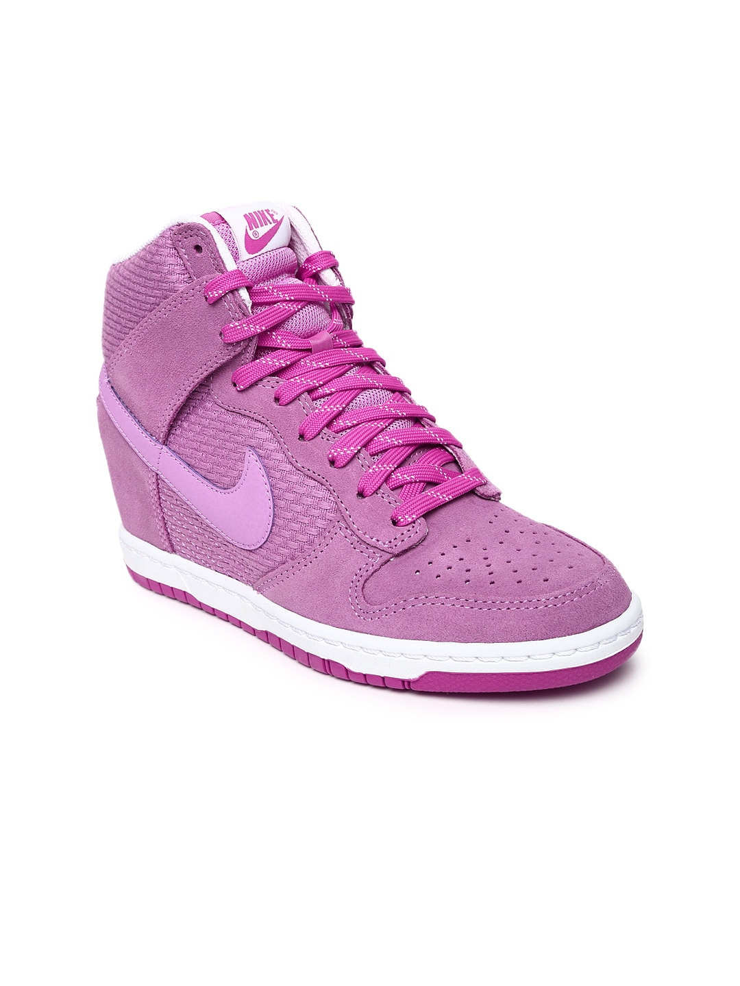 competitive price 4dc50 17ec1 ... buy nike women lavender dunk sky hi essential suede casual shoes casual  shoes ...