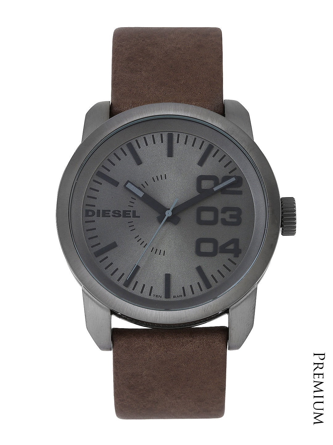 DIESEL Men Gunmetal-Toned Dial Watch DZ1467