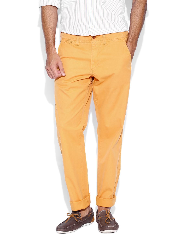 GANT Orange New Haven Regular Fit Trousers