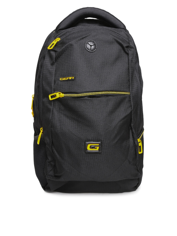 Gear Unisex Black Backpack
