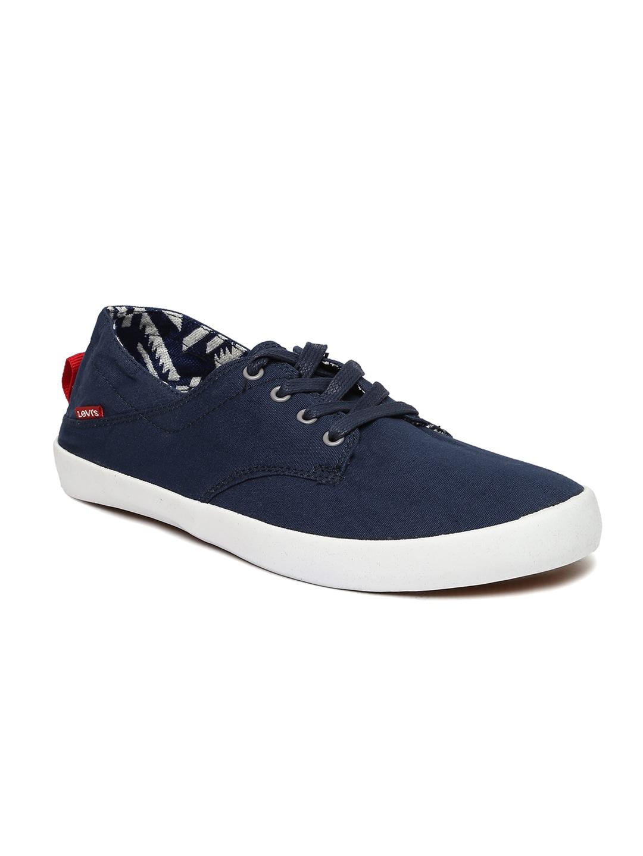 Levis Men Navy Canvas Shoes