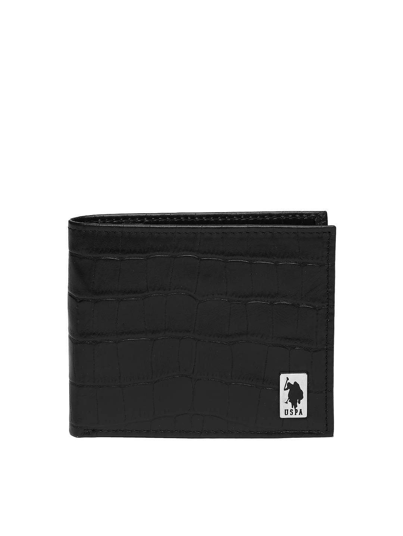 U.S. Polo Assn. Men Black Leather Wallet
