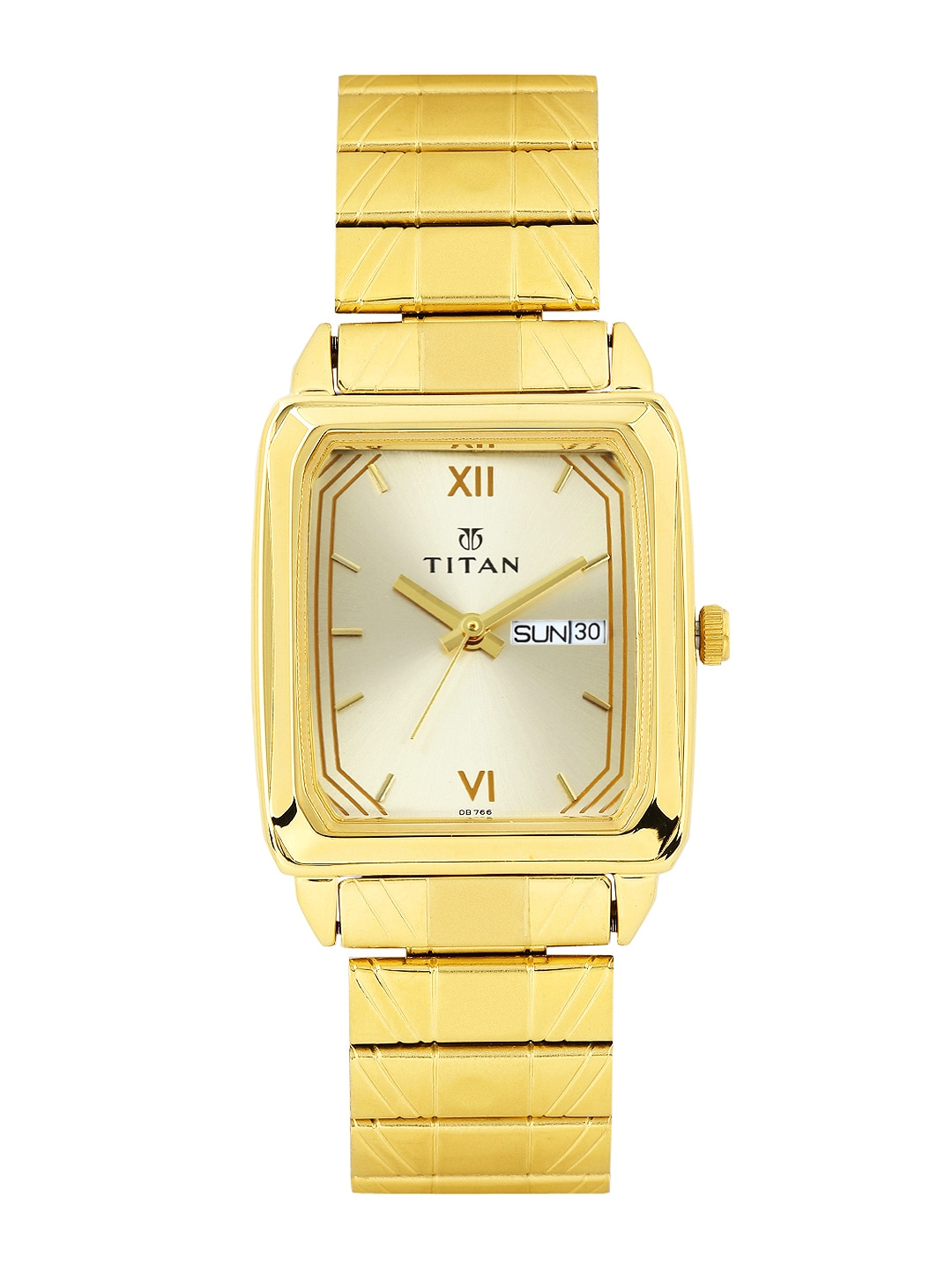 Titan Men Gold-Toned Dial Watch NF1581YM05