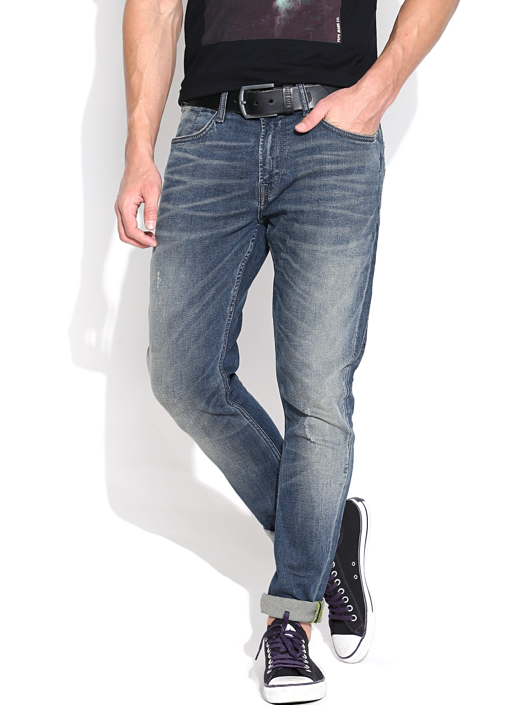 Pepe Jeans Blue Harvest Washed Carrot Fit Jeans