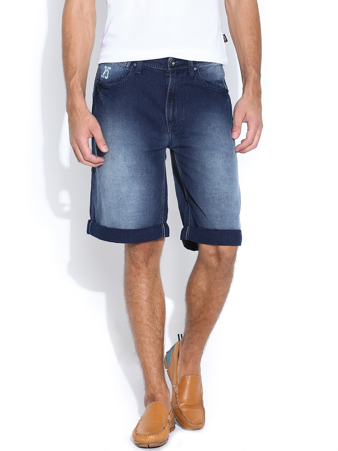Pepe Jeans Men Blue Denim Shorts