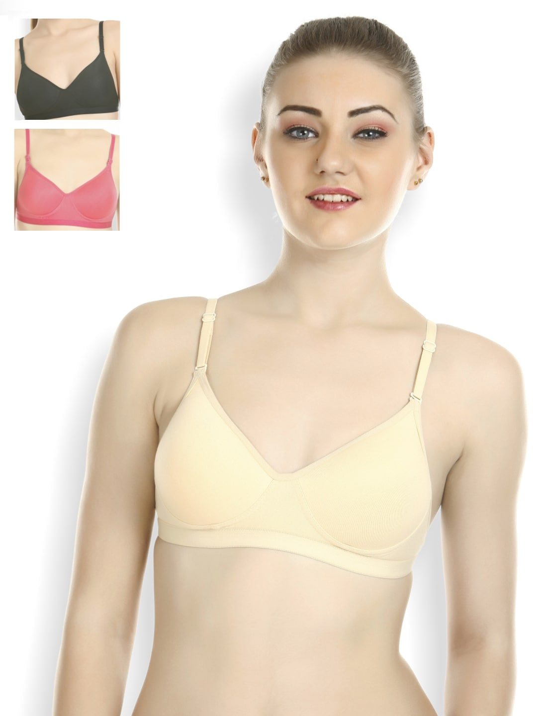 66c813591f Tweens Pack of 3 Full-Coverage T-shirt Bras TW-1313-SK