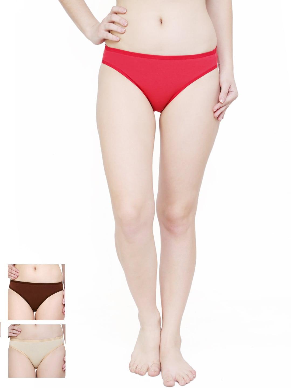 Softrose Women Pack of 3 Bikini Briefs LB7001CRS
