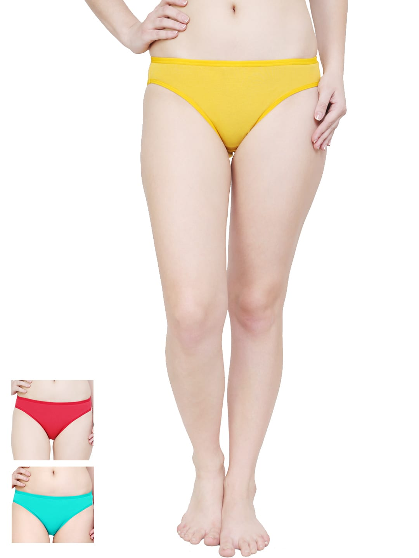 Softrose Women Pack of 3 Bikini Briefs LB7001RRGY