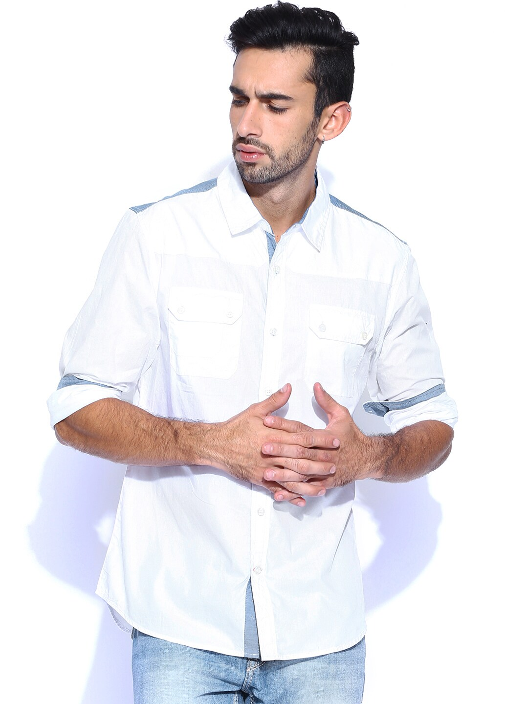 GUESS White Casual Shirt