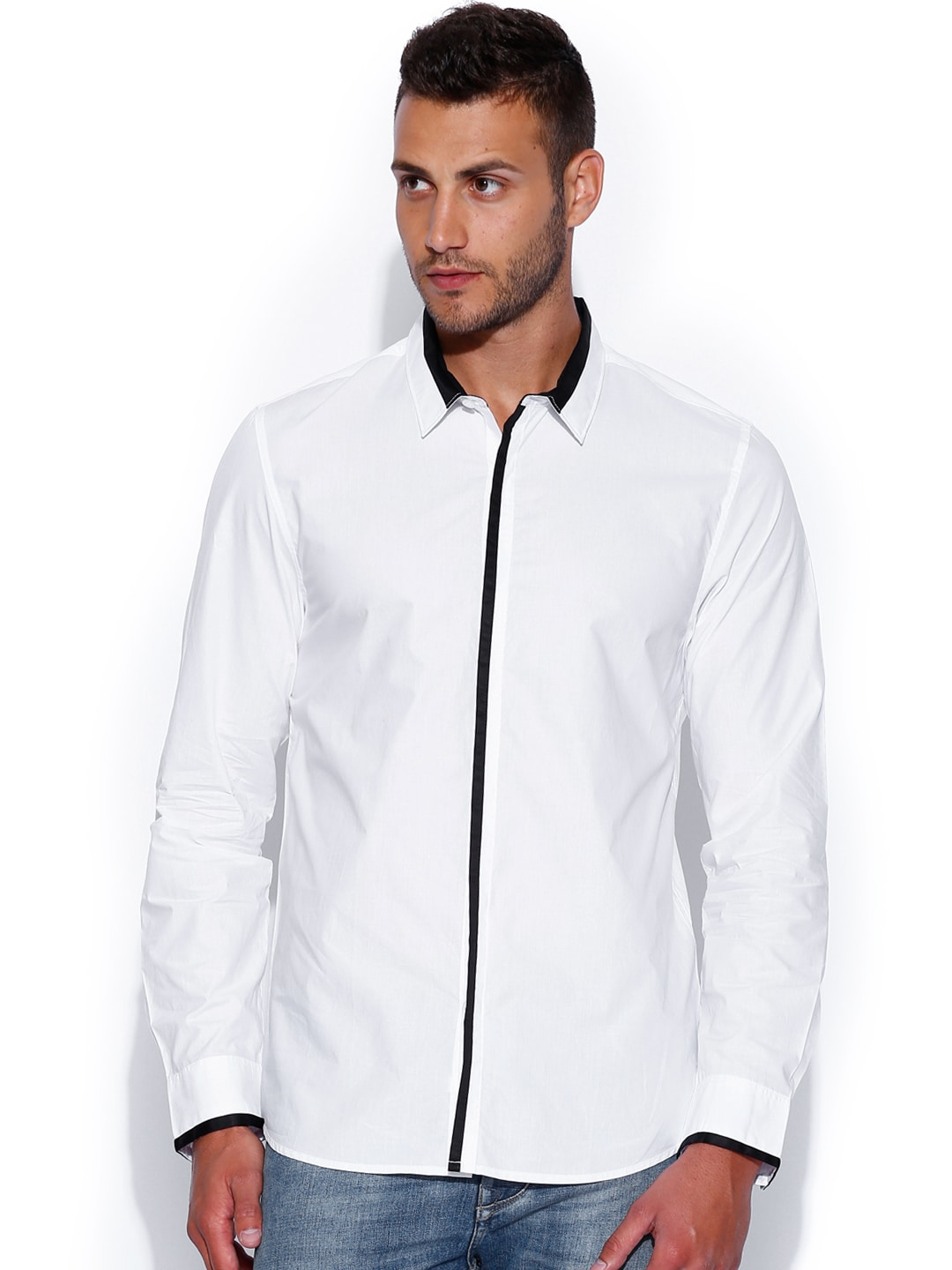 GUESS White Slim Casual Shirt