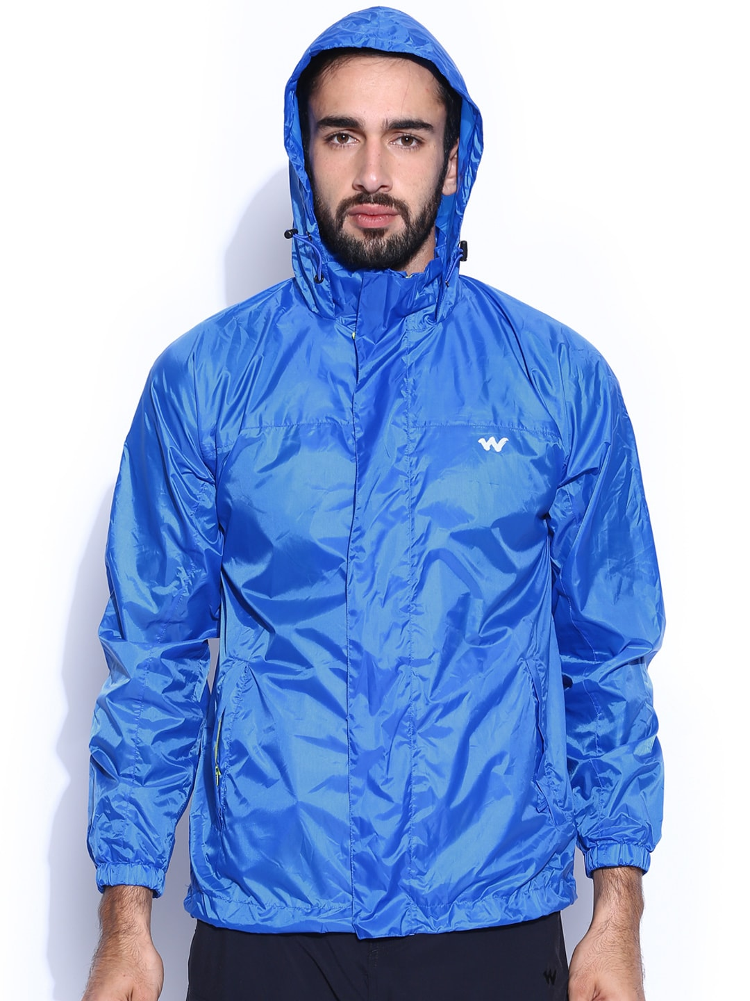 Wildcraft Blue Hooded Rain Jacket
