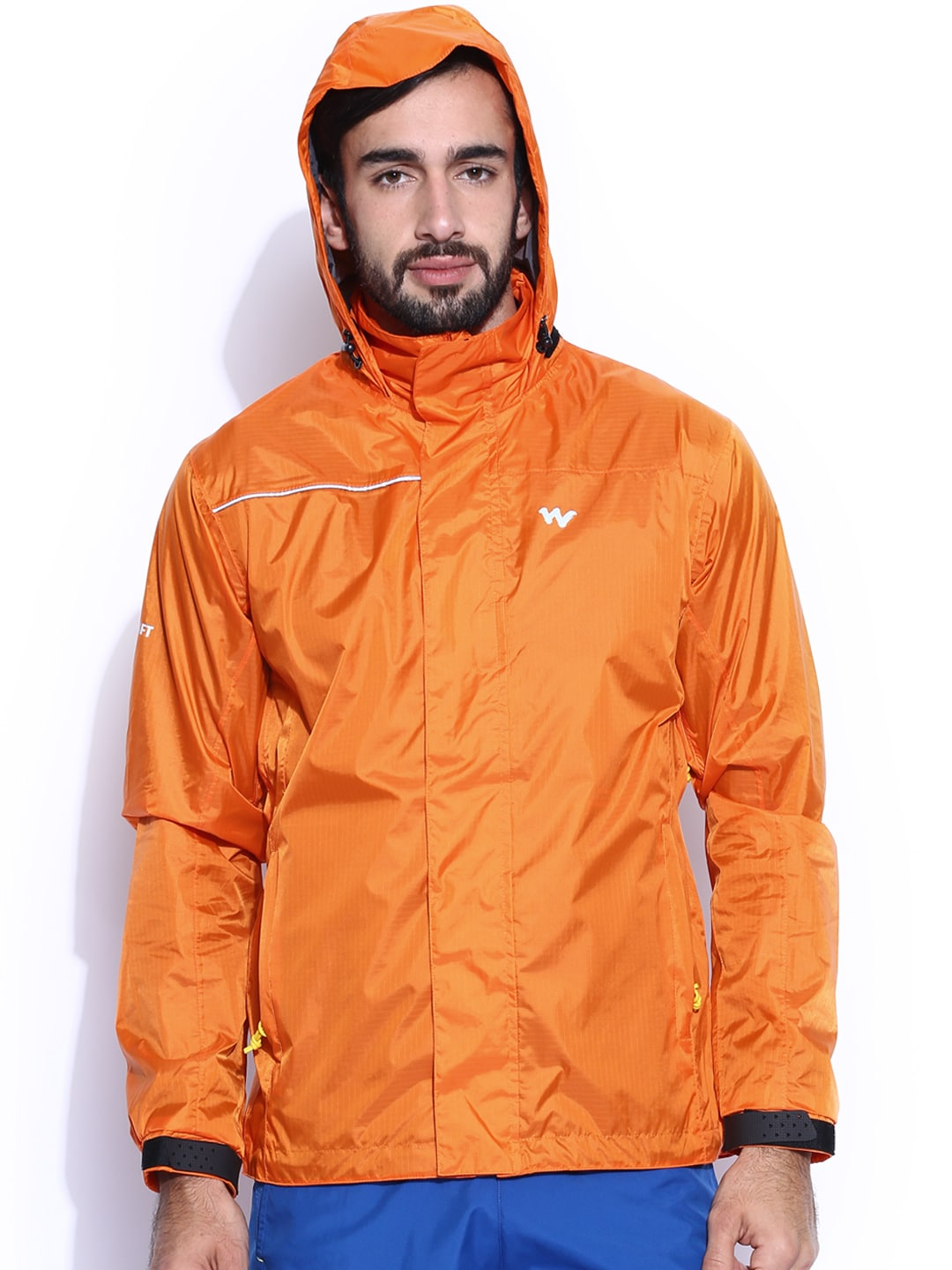 Wildcraft Orange Hooded Rain Jacket