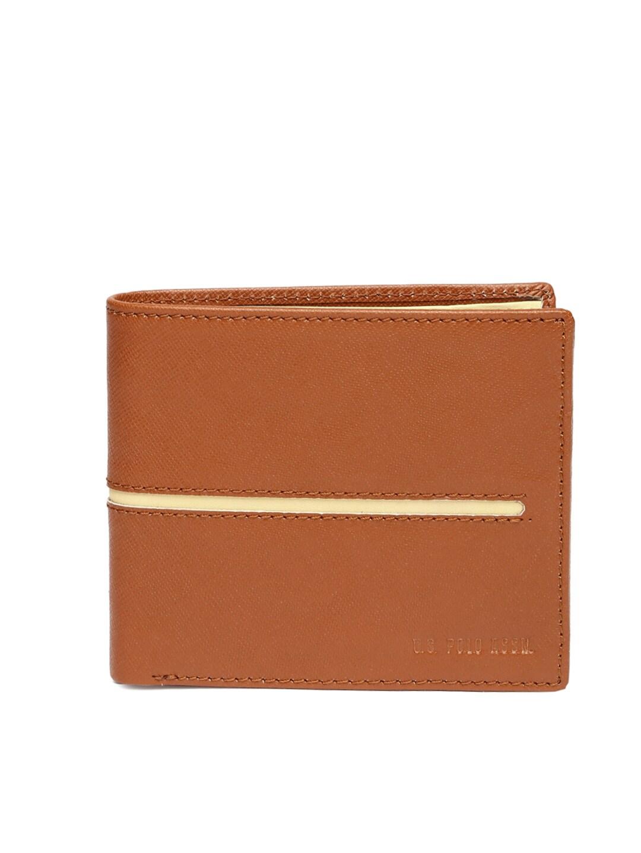 U.S Polo Assn. Men Brown Leather Wallet