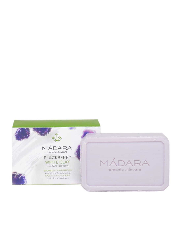 MADARA Unisex Organic Skincare Blackberry White Clay Clarifying Face Soap