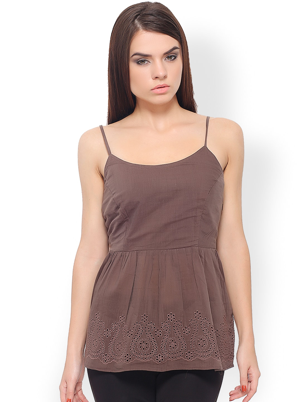 Buy Iti Women Brown Top - 310 - Apparel for Women