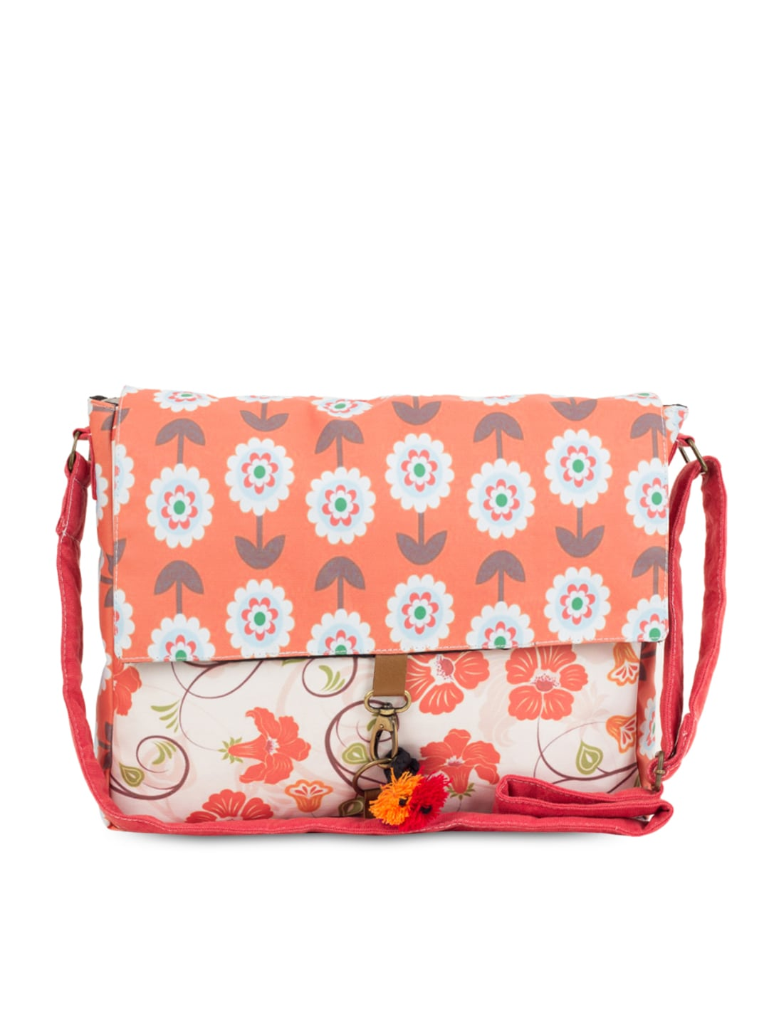 The House of Tara Unisex Multicoloured Printed Sling Bag