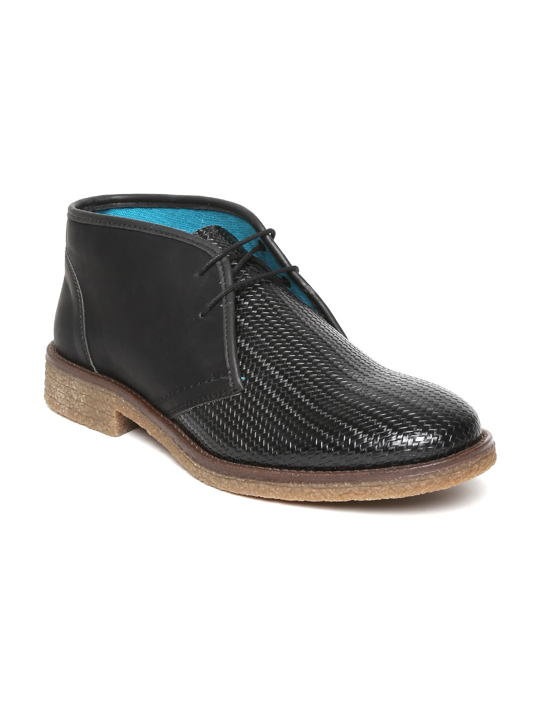 Knotty Derby Men Black Desert Chukka Boots