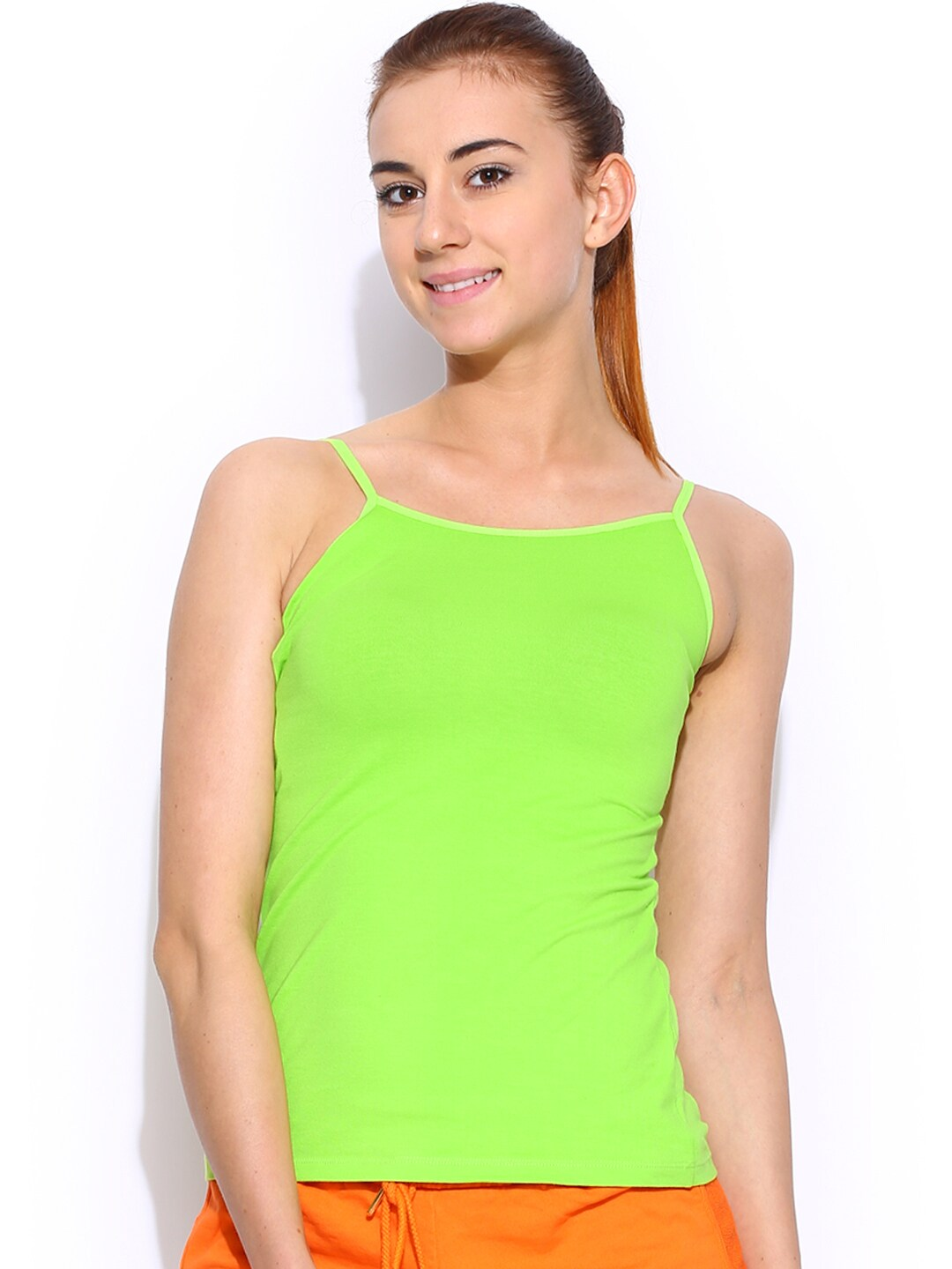 Restless Lime Green Spaghetti Top