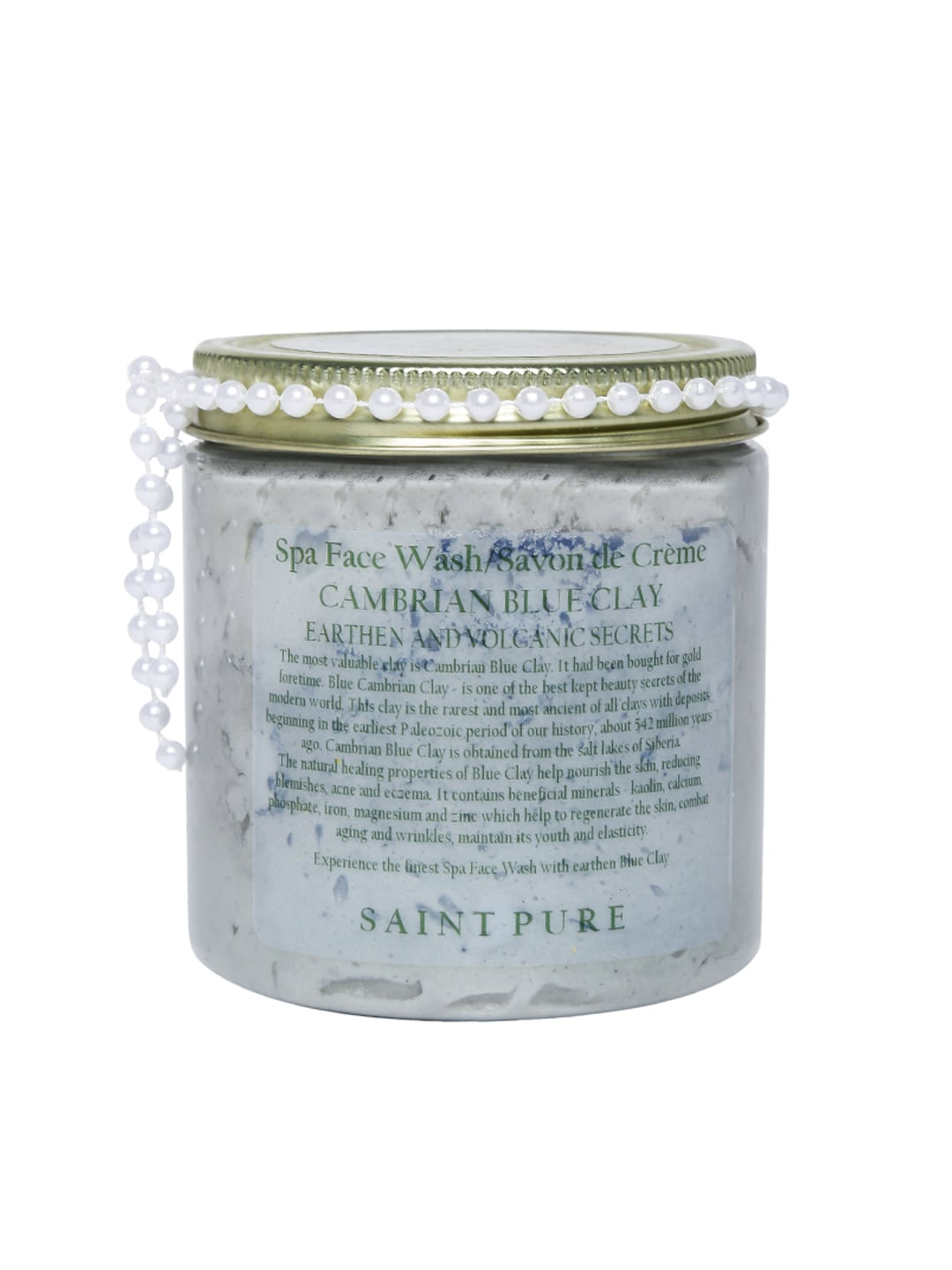 SAINT PURE Unisex Cambrian Blue Clay Spa Face Wash