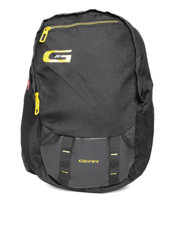 Gear Unisex Black Waterproof Backpack