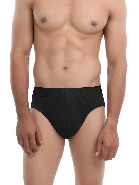 Calvin Klein Innerwear Men Black Hip Briefs U1750D-001