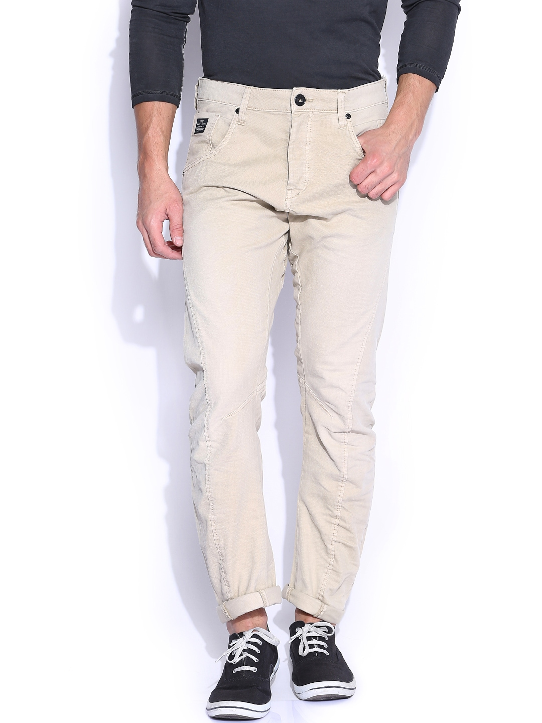 Jack & Jones Khaki Anti Fit Trousers