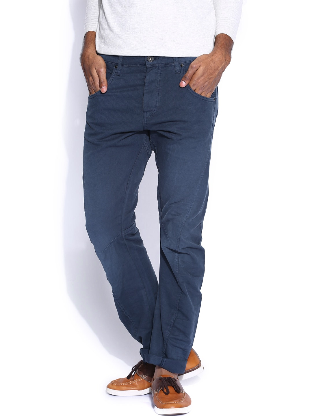 Jack & Jones Blue Anti Fit Trousers
