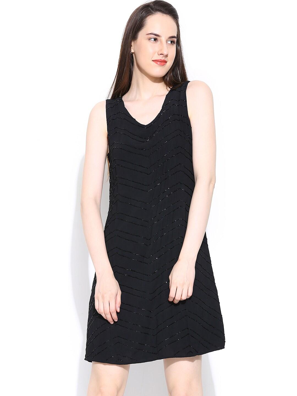 Vero Moda Black Shift Dress with Beads