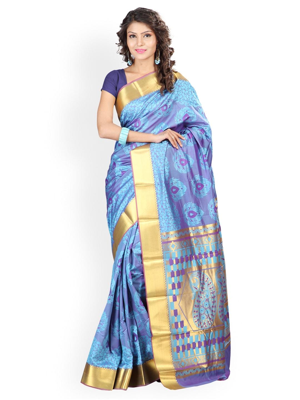 Varkala Silk Sarees Turquoise Blue Jacquard Traditional Saree
