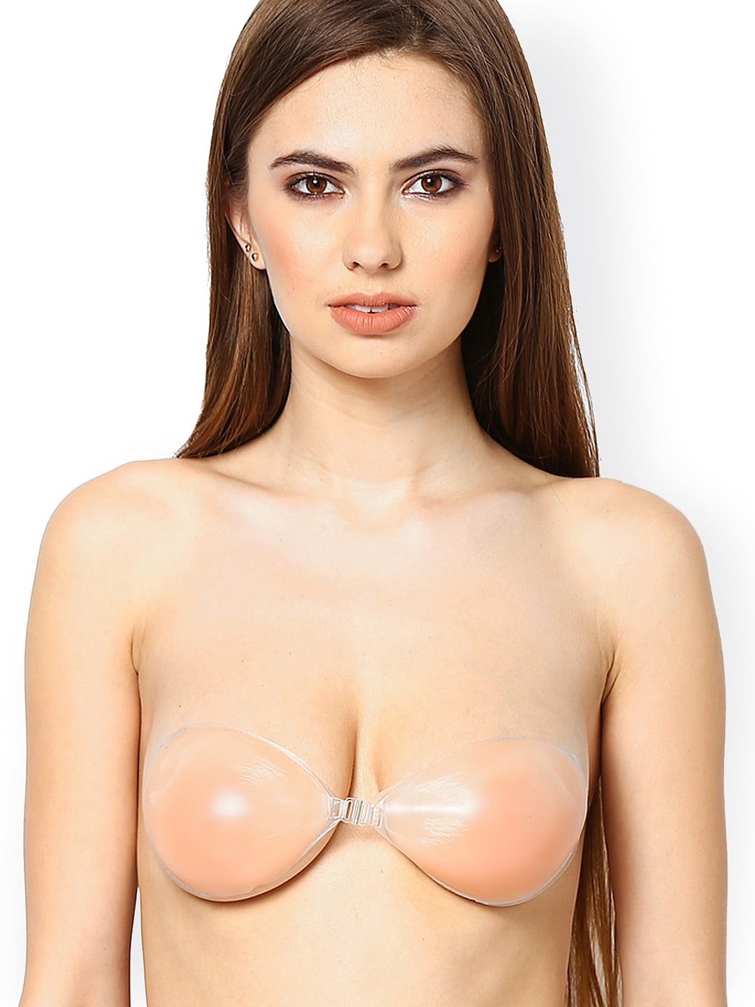 N-Gal Peach-Coloured Silicone Stick-On Push-Up Bra NSB02