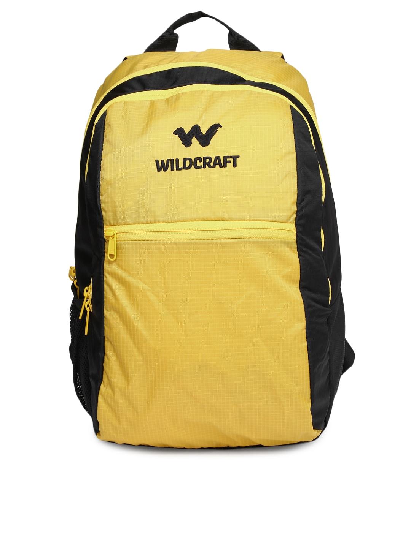Wildcraft Unisex Yellow & Black Backpack