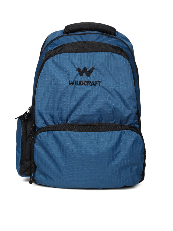 Wildcraft Unisex Blue & Black Backpack