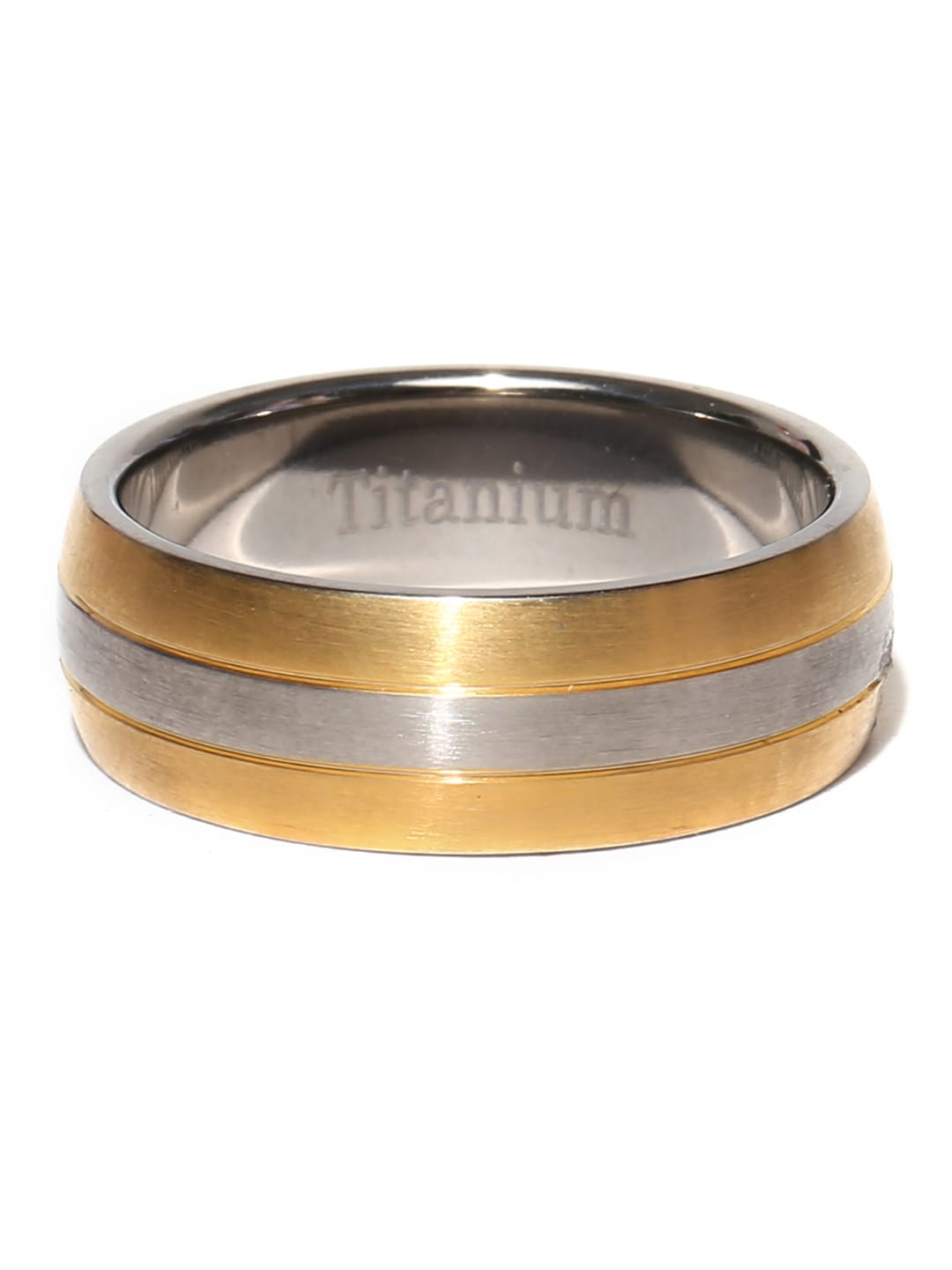 Peora Men Gold-Toned & Silver-Toned Ring