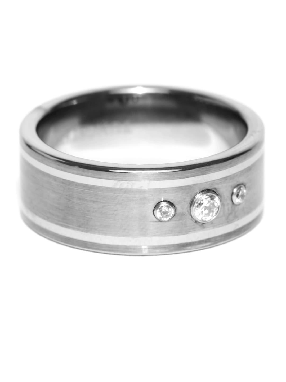 Peora Men Silver-Toned Band Ring