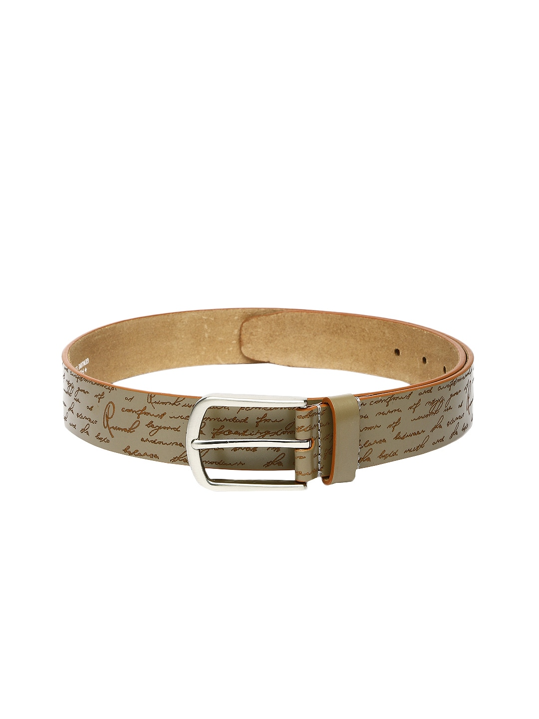 Ruosh Signature Men Grey Leather Belt