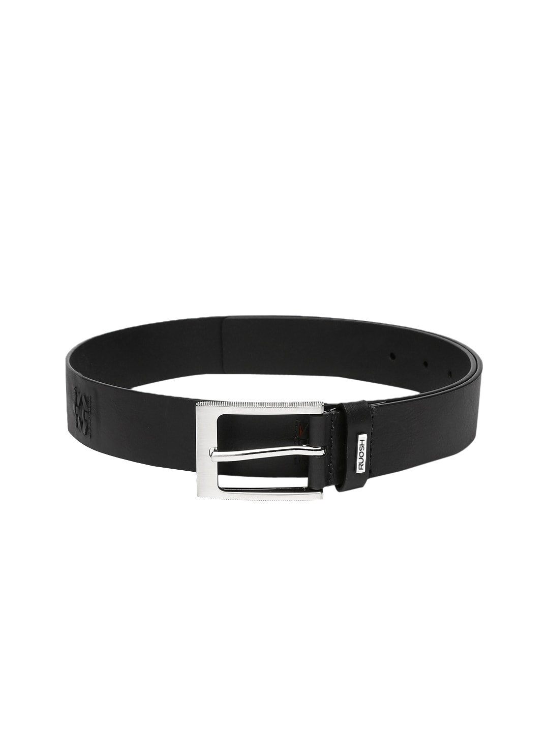 Ruosh Men Black Leather Belt